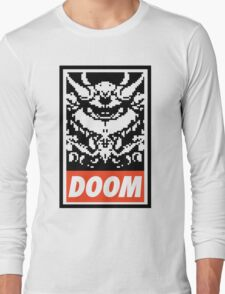 DOOM (OBEY Parody) - White Shirt Version Long Sleeve T-Shirt