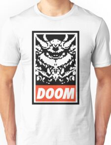 DOOM (OBEY Parody) - White Shirt Version Unisex T-Shirt