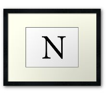 Nu Greek Letter Framed Print