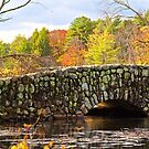 Stone Bridge and Fall Color by John Butler