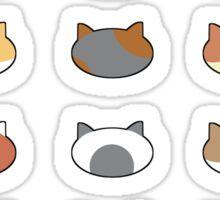 Row of Cats - Neko Atsume Sticker