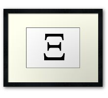 Xi Greek Letter Framed Print