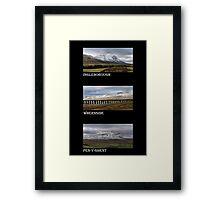 3 Highest Peaks Of The Yorkshire Dales Framed Print