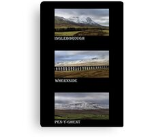 3 Highest Peaks Of The Yorkshire Dales Canvas Print