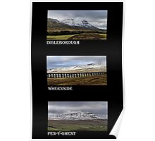 3 Highest Peaks Of The Yorkshire Dales Poster