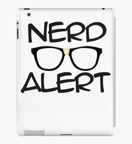 Nerd Alert iPad Case/Skin