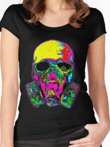 Toxic skull Women's Fitted Scoop T-Shirt