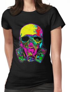 Toxic skull Womens Fitted T-Shirt
