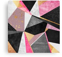 Geometry / Pink Canvas Print