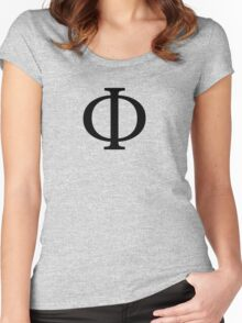 Phi Greek Letter Women's Fitted Scoop T-Shirt
