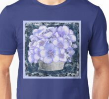 Basket With Blue Flowers Unisex T-Shirt