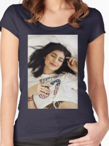 Kylie Jenner - Chill Women's Fitted Scoop T-Shirt