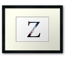 Zeta Greek Letter Framed Print