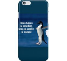 Wise penguin iPhone Case/Skin