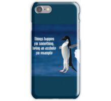 Wise penguin iPhone Case/Skin