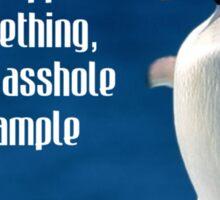 Wise penguin Sticker