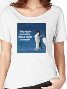 Wise penguin Women's Relaxed Fit T-Shirt
