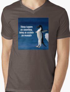 Wise penguin Mens V-Neck T-Shirt
