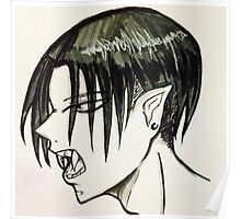 Vampire Levi Snarl Poster