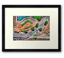 View From The Top    (SW) Framed Print