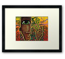man and snake (rectangle) Framed Print
