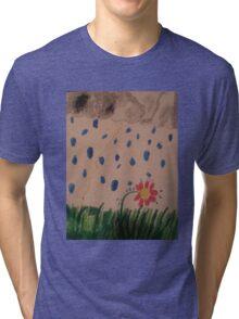 flower in the rain Tri-blend T-Shirt