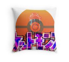 Vaporwave Pokemon Throw Pillow