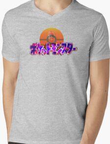 Vaporwave Pokemon Mens V-Neck T-Shirt