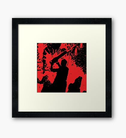 Icons of Horror - Leatherface Framed Print