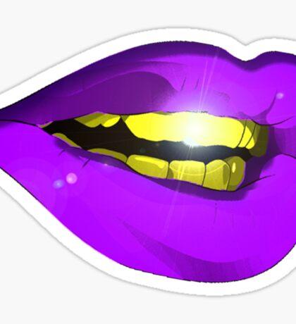 Gold Teeth Sticker
