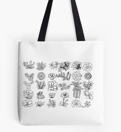 Succulent Chart Tote Bag