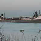 Freighter St. Clair River by mercale