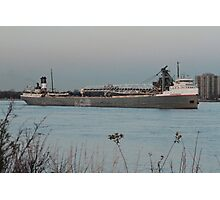 Freighter St. Clair River Photographic Print