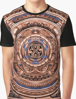 Aztec Time Travel Pendant Medallion Graphic T-Shirt