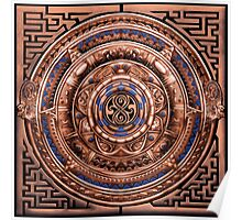 Aztec Time Travel Pendant Medallion Poster