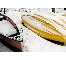 Boating on Ice  Photographic Print