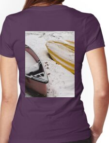 Boating on Ice  Womens Fitted T-Shirt