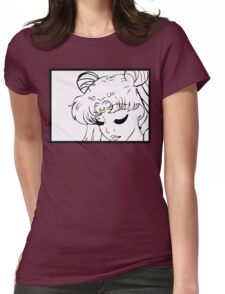 Princess Serenity Black and White Womens Fitted T-Shirt
