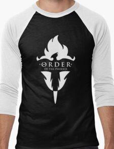 ORDER Of The Phoenix White Men's Baseball ¾ T-Shirt