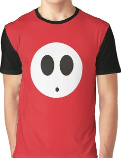Shy Guy (Red) Graphic T-Shirt