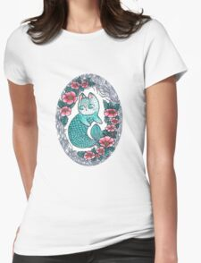 Mermaid kitty  Womens Fitted T-Shirt