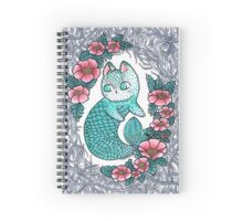 Mermaid kitty  Spiral Notebook