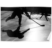 Hockey Shadows Poster