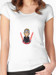 Anakin Skywalker Sith Happens Women's Fitted Scoop T-Shirt