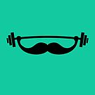 Funny Fitness Mustache / Beard by badbugs