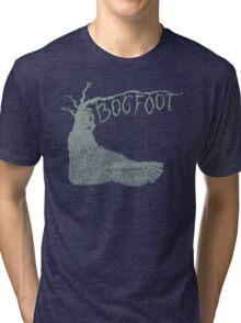 Bogfoot Swamp Thing Woodcut Tri-blend T-Shirt