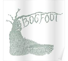 Bogfoot Swamp Thing Woodcut Poster