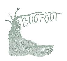 Bogfoot Swamp Thing Woodcut Photographic Print
