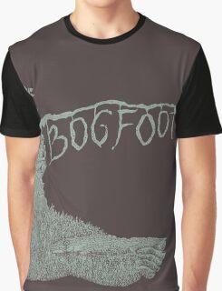 Bogfoot Swamp Thing Woodcut Graphic T-Shirt