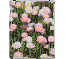 pink and white everlastings iPad Case/Skin